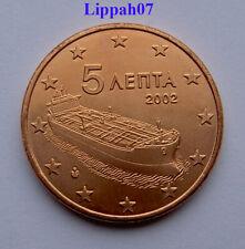 Griekenland / Greece 5 cent 2002 met letter F UNC