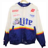 V135 Vintage Chase Authentics Rusty Wallace NASCAR Miller Lite Racing Jacket M