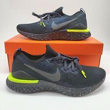Nike Epic React Flyknit 2 SE Men's 9 Running Shoes Black Sequoia CI6443 001 NEW
