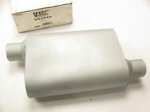 """Ap Exhaust VX2543 Performance 2 Chamber Muffler - 2.5"""" Center / Offset"""
