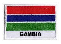 Patch écusson patche drapeau GAMBIE 70 x 45 mm Pays Monde Afrique brodé