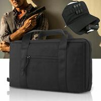 Pistol Case Portable Military Handgun Padded Carry Bag Tactical Holder Black