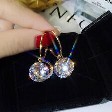 925 Sterling Silver hoop drop earrings with Cubic Zirconia Valentines gift