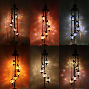 Beautiful 5 Balls Handmade Turkish Moroccan Colourful Glass Light Floor Lamp