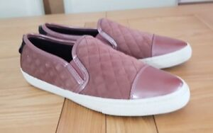 Geox Respira N.Club Rose / Pink Womens Casual Flat Quilted Loafers Size 2.5 UK