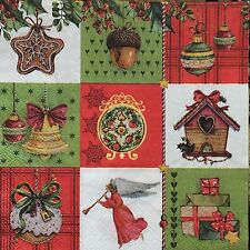 2 single paper napkins for Decoupage Crafts or collection NewYear Christmas gift