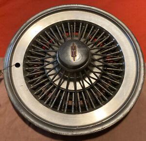 """1973-1977 Oldsmobile Delta 88 Cutlass 15"""" Wire Spoke Cap Hubcap Wheel Cover OEM"""