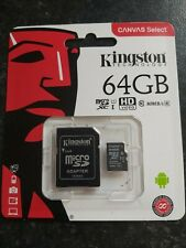Original Kingston 64GB MicroSD Flash Memory card for Samsung Camcorder