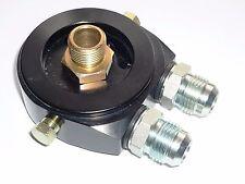 "Sandwich Adaptor Oil cooler Steel Fittings AN10 - JACKMASTER - Black 13/16"" LS1"