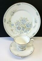 Lenox Oxford Bone China 'Midsummer' 3-pc Dinner Plate, Cup, Saucer 1979-1983 USA