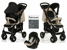 Hauck shopper Travel System pushchair pram Carseat+raincover in Caviar almond