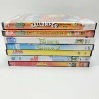 KIDS 7 DVD Lot, SpongeBob (2), Shrek (2), Elf, Kung Fu Panda, Lego Movie