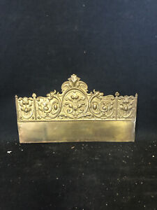 "1920's 10 5/8"" Brass Pediment"