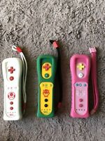 Lot Of 3 NINTENDO WII REMOTE MOTION PLUS PEACH AND BOWSER AND TOAD CONTROLLERS