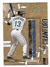CARL CRAWFORD   2004 LEATHER & LUMBER GOLD #139   SERIAL #5/25   TAMPA BAY RAYS