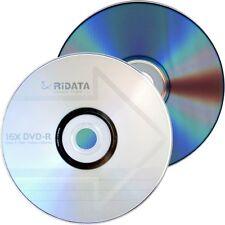 10 Ritek Ridata Branded 16X Logo Top DVD-R DVDR Blank Disc 4.7GB Paper Sleeves