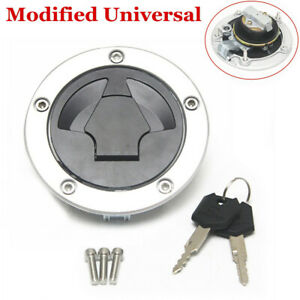 Universal Modification Motorcycle Fuel Gas Tank Cap Lock with 2 Keys Accessories