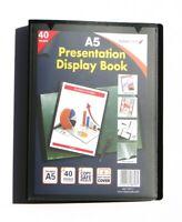 A5 Display Book 40 Pockets (80 Views) Hard Cover Presentation Folder (1 Pack)