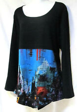 plus sz XXS (12) TS TAKING SHAPE 'City Scape' soft draping funky tunic Top NWT!