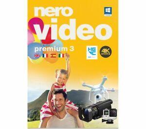 NERO Video Premium 3 Windows 7, 8, 8.1 & 10 Compatible 4K UHD HEVC BRAND NEW