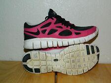 Women's Nike Free Run + 2 Running Shoes 536746-016 Size 5.5 Grey / Fireberry