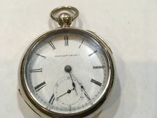 wind pocket watch running estate purchase. Antique Elgin Gm Wheeler 18 size key