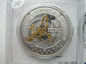 Belgium 10 euro 2011 Belgian Deep Sea Exploration Silver Proof