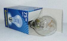 10 x 75 W clara bombilla incandescente E27 esférica Lámpara 75W rosca - nueva
