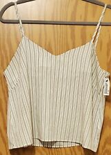 Earth Music & Ecology Size Small Cropped Cami Tank Top Sleeveless