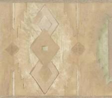 Wallpaper Border Southwestern Western Design Light Sage Green Beige Taupe