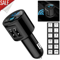 Car Bluetooth Cigar Plug FM Transmitter MP3 Player Radio Adapter Kit USB Charger