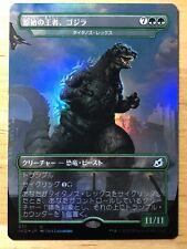 FOIL Godzilla, Primeval Champion Japanese Ikoria IKO Titanoth Rex mtg NM