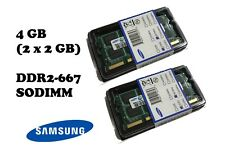 2 x 2GB SAMSUNG 4GB DDR2 667 MHz Notebook RAM SODIMM PC2-5300S
