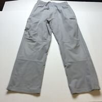 Adidas Mens Gray Faux Suede Track Pants Size Medium A2190