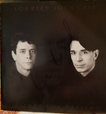 *SIGNED* LOU REED SONGS FOR DRELLA CD - RARE! VELVET UNDERGROUND JOHN CALE