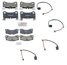 Porsche Cayenne Turbo 2008 Front and Rear Brake Pad Kit with Sensors Bosch NEW