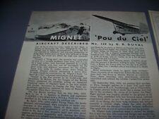 """VINTAGE..MIGNET """"POU DU CIEL"""" HISTORY...3-VIEWS/DETAILS/VARIANTS..RARE! (72L)"""