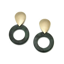 66 Type Acrylic Tortoise Shell Earring Round Circle Resin Hoop Earrings For Lady