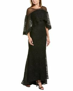 Mac Duggal Embroidered Lace Gown Women's