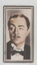 1936 Godfrey Phillips Stars of the Screen Tobacco Base 4 William Powell Card 2u1