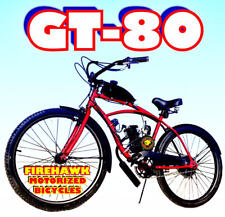"""Gt 80 Or 50 Cc Gas Motor Motorized Engine & 26"""" Bike Bicycle Moped Scooter Kit"""