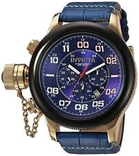 Invicta Men's 54mm Russian Diver Quartz Stainless Steel and Leather Watch 22292