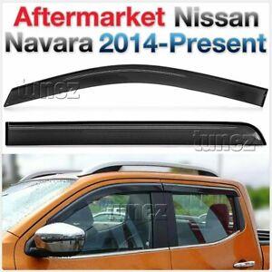 Window Door Visor Weather Shield For Nissan Navara NP300 D23 2018 Car Truck Ute