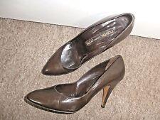Genuine MIGUEL HERNANDEZ @ RAVEL Designer Brown Leather COURT SHOES~UK 6~EU 39