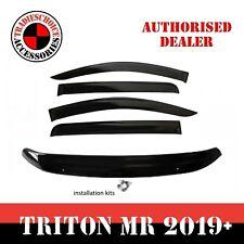 Bonnet Protector + Weathershields Visors For Mitsubishi Triton MR 2019-2020