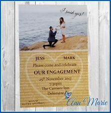 10 x PERSONALISED ENGAGEMENT PARTY INVITATIONS ENGAGED PARTY INVITES CARDS