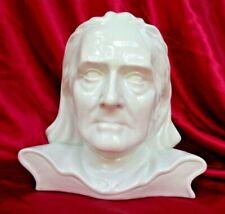 RARE VTG Composer Franz Liszt White Bisque Porcelain Bust Statue Czechoslovakia