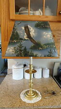 Cabin Rustic Country Brass Table Lamp/Eagle Shade