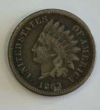 1863 United States Indian Head One Cent Coin