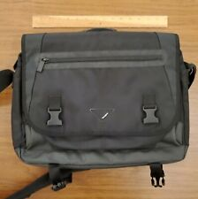 "Targus 15.6"" laptop messenger bag black canvas padded"
